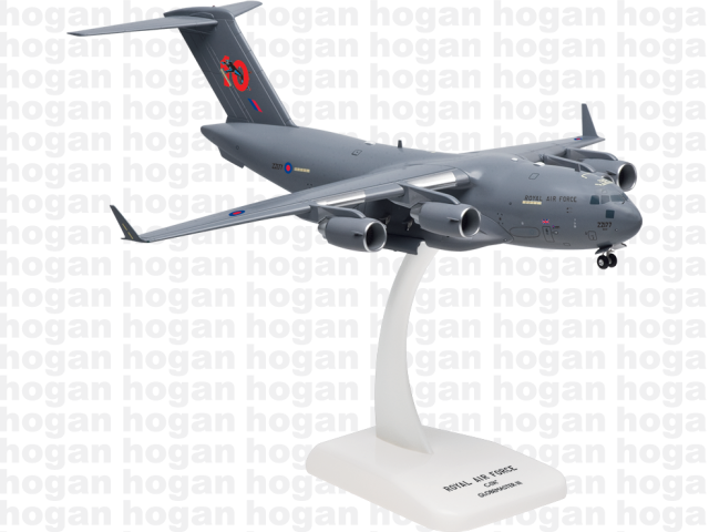 "Hogan Wings 7778 1/200 M-Series C-17 C-17A Royal Air Force ""10th Annversary"" Jet Plastic Military Aircraft Model"