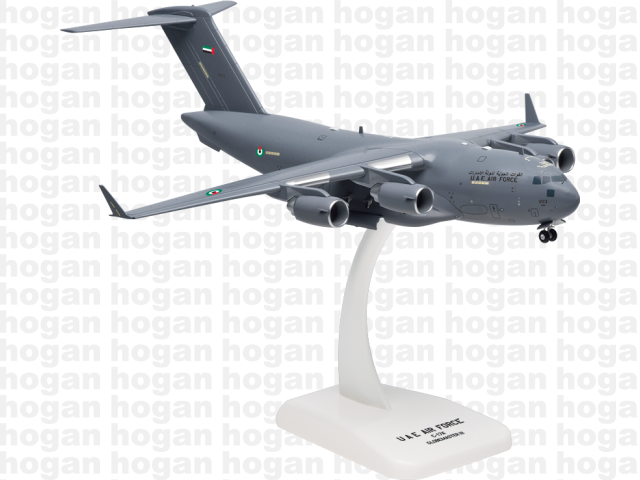 Hogan Wings 7792 1/200 M-Series C-17 C-17A United Arab Emirates Air Force Jet Plastic Military Aircraft Model