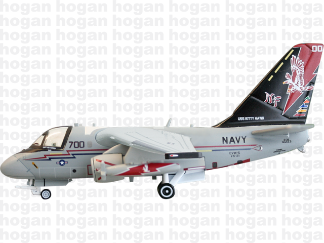 Hogan Wings 7815 1/200 M-Series Lockheed Martin S-3 Viking S-3B US Navy VS-21 Fighting Redtails NF 700 Jet Diecast Military Aircraft Model