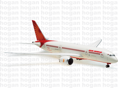 Hogan Wings 0977 1/200 Air India AI AIC AIRINDIA BOEING 787-8 Plastic Snap-Fit Model Commercial Aircraft Civil Aviation
