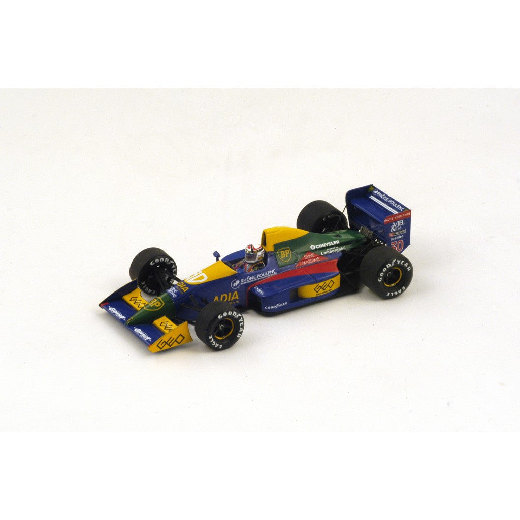 Spark S2975 1/43 Lola LC89 No.30 6th Spanish Grand Prix 1989 Lola-Lamborghini Team Philippe Alliot Resin Model F1 GP Racing Car