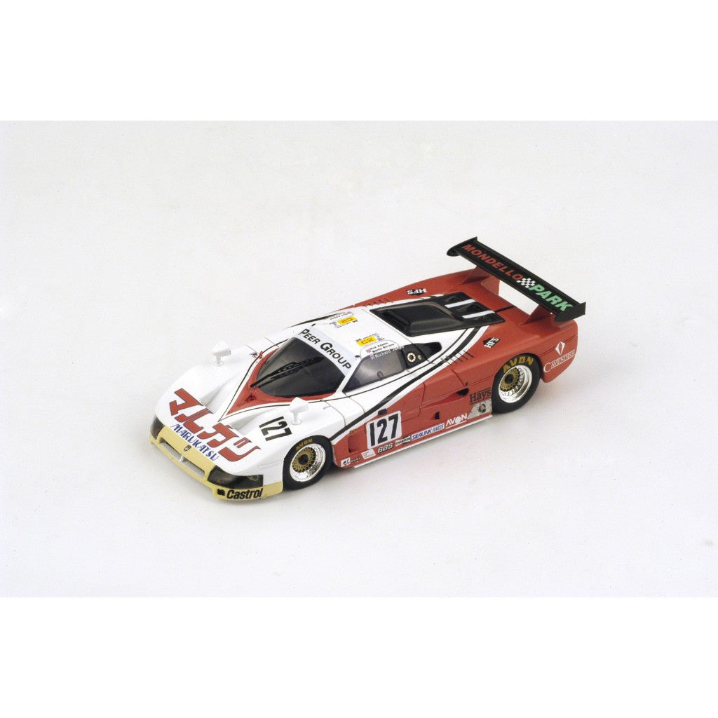 Spark S3586 1/43 Spice SE86C #127 24 Hours of Le Mans 1988 C2 Class Chamberlain Engineering Team Nick Adams - Martin Birrane - Richard Jones Resin Model LM Racing Car