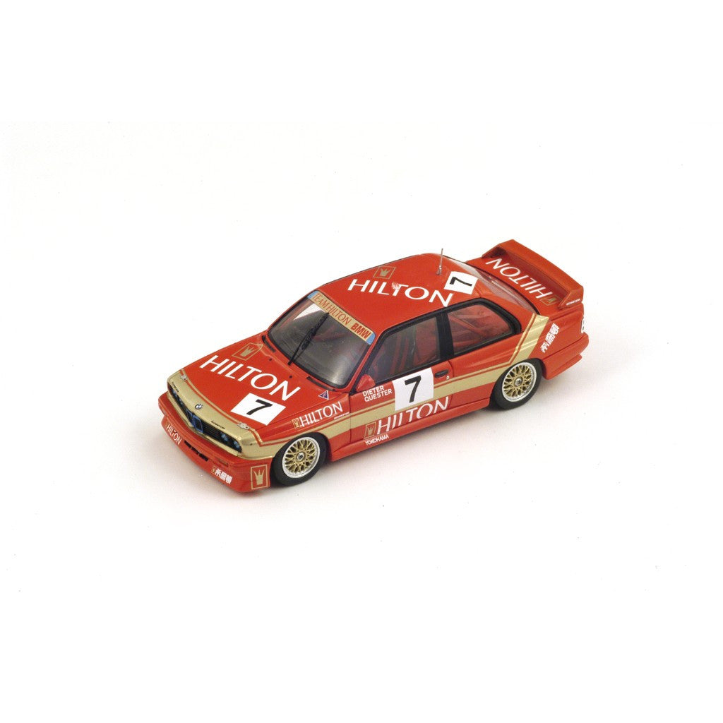 Spark SA033 1/43 BMW M3 No.7 2nd Macau Grand Prix 1987 Touring Car Winners Dieter Quester GP Resin Models Racing Car