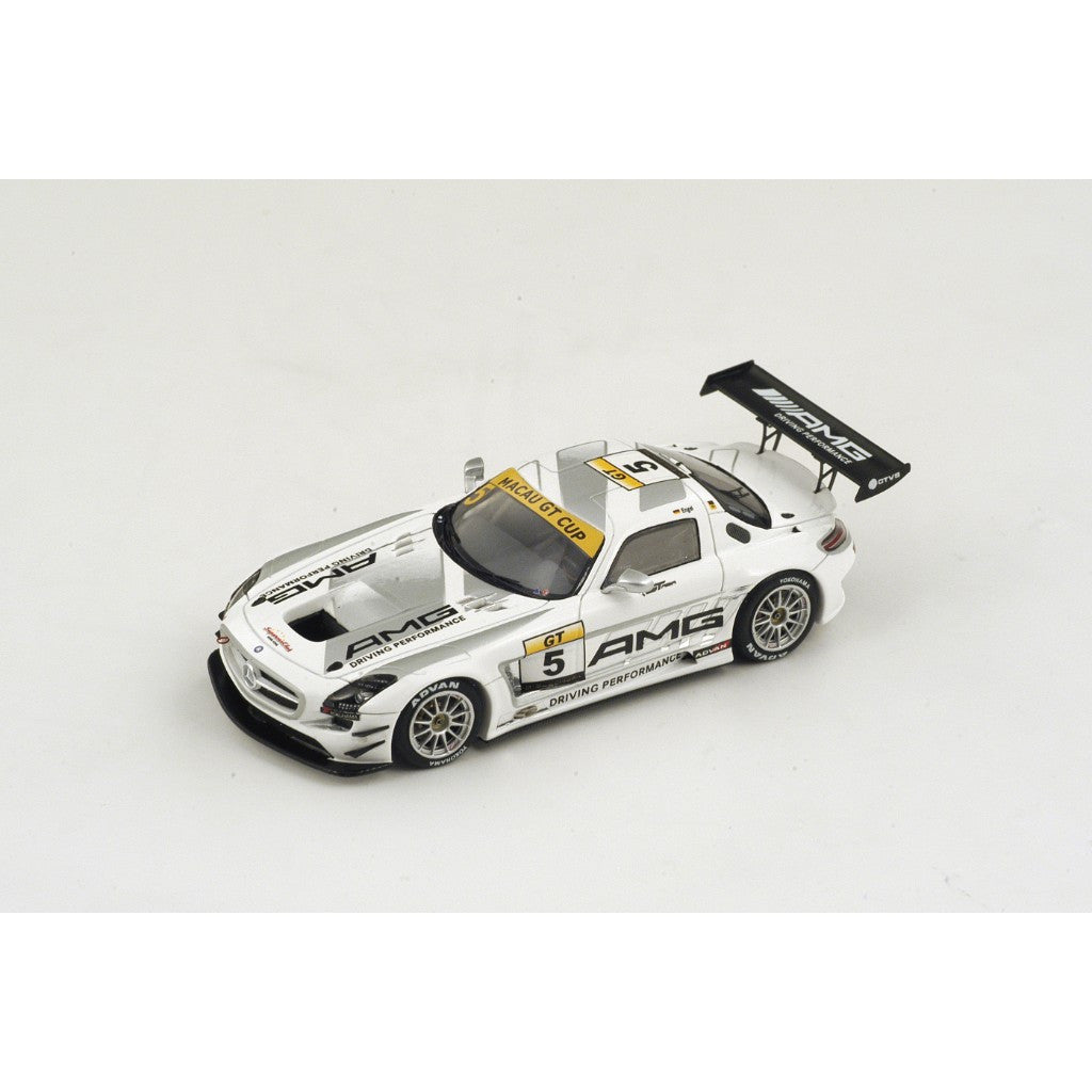 spark sa068 1 43 mercedes benz sls amg gt3 no 5 winner macau grand pri. Black Bedroom Furniture Sets. Home Design Ideas