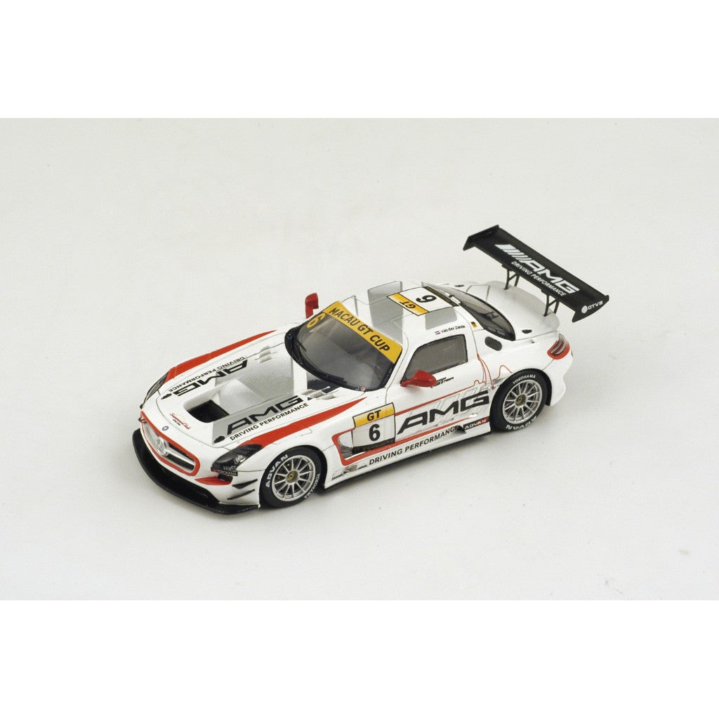 Spark SA069 1/43 Mercedes-Benz SLS AMG GT3 No.6 2nd Macau Grand Prix 2014 GT Cup Renger Van Der Zande GP Resin Models Racing Car