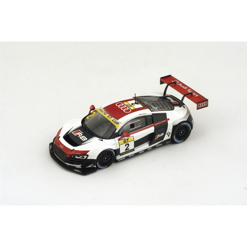 Spark SA071 1/43 Audi R8 LMS Ultra No.2 4th Macau Grand Prix 2014 GT Cup Laurens Vanthoor GP Resin Models Racing Car