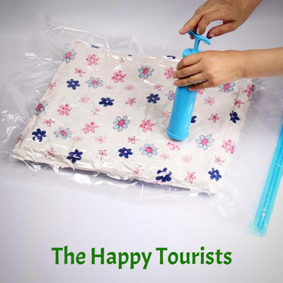 Strong Vacuum storage bag for travelers 6 packs by THT - The Happy Tourist LTD