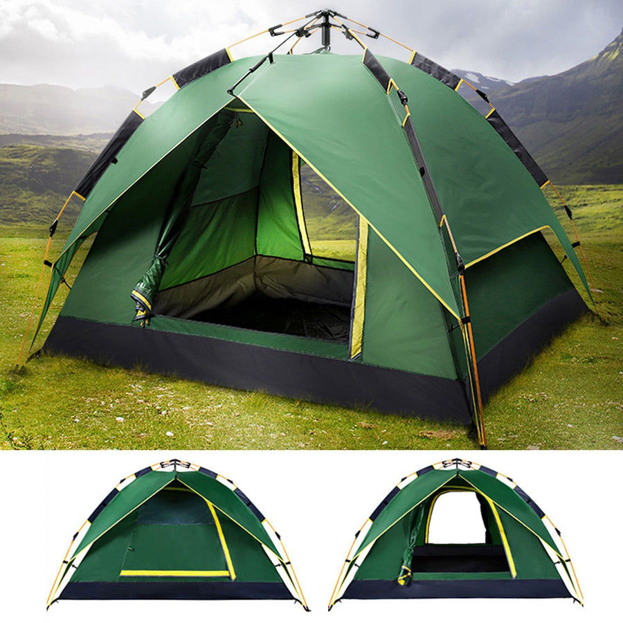 3 Man Automatic Pop Up Waterproof Camping Tent - UV Resistant