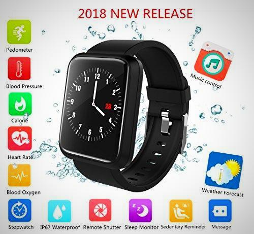Blood Pressure Monitor smart Fitness Tracker watch - The Happy Tourist LTD