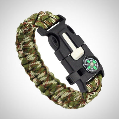 5 In 1 Survival Bracelet Multifunctional Outdoor Paracord Survival Gear - The Happy Tourist LTD
