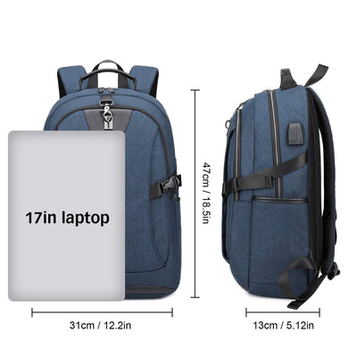 "Anti Theft Laptop Backpack with USB Charging Port 15.6"" For Business  Men/Women"