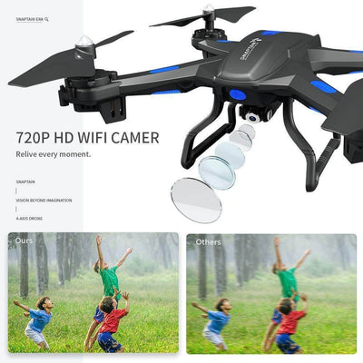 Best Drone for Beginners with Altitude Hold, Voice Control, G-Sensor WiFi FPV 720P HD Camera,