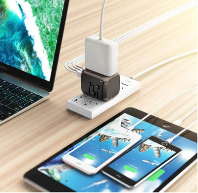International Travel Adaptor Power Plug Adapter W/4xUSB Wall Charger