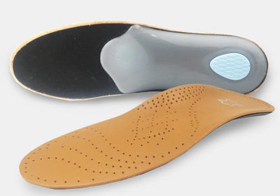 Leather Insole for Flat Foot Arch Support 25mm orthopedic Silicone