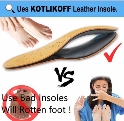 85a4b94b2d Leather Insole for Flat Foot Arch Support 25mm orthopedic Silicone ...
