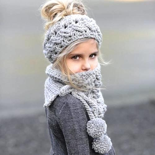 Baby Cap Winter Wool Knitted Handmade Hats Baby