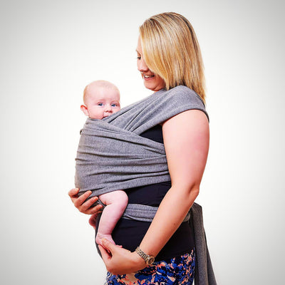 Premium Baby Carrier | Neutral Grey | One Size Fits All - The Happy Tourist LTD