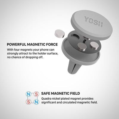 Car Phone Holder Magnetic Air Vent Phone Holder for Car - The Happy Tourist LTD