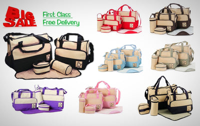 Multi-Function Baby Diaper Nappy Bag Mummy Changing Set Handbag Waterproof - The Happy Tourist LTD