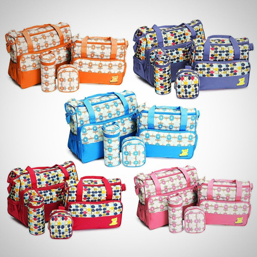 Baby Changing Diaper Nappy Bag Mummy Mother Handbag 5 Pcs