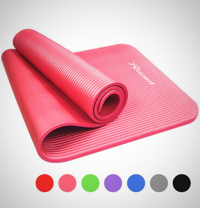 Exercise Mat NBR Fitness Yoga Mat 12mm Extra Thick High Density - The Happy Tourist LTD