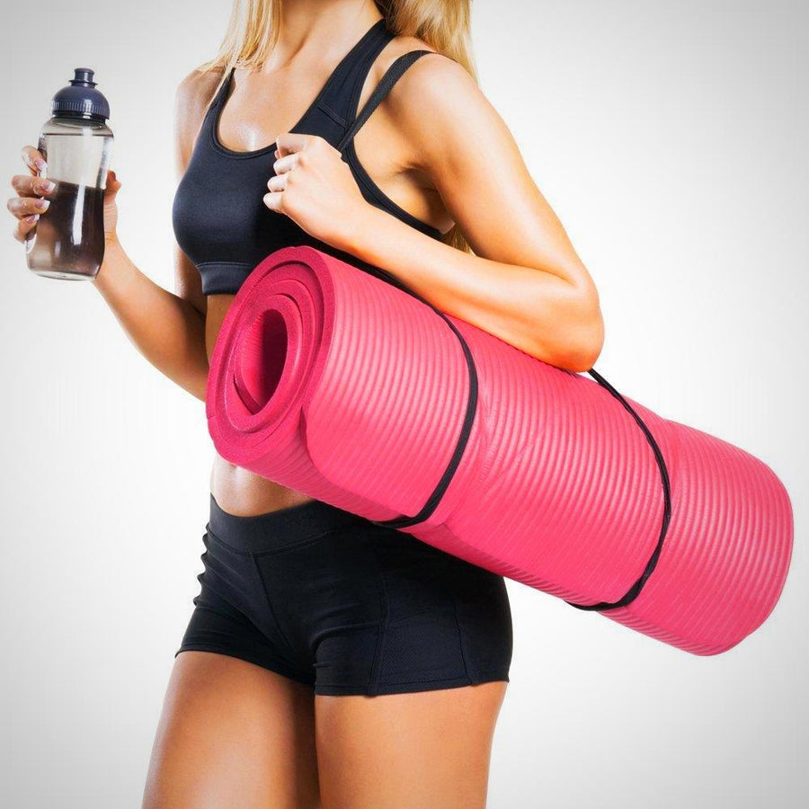 Exercise Mat NBR Fitness Yoga Mat 12mm Extra Thick High Density