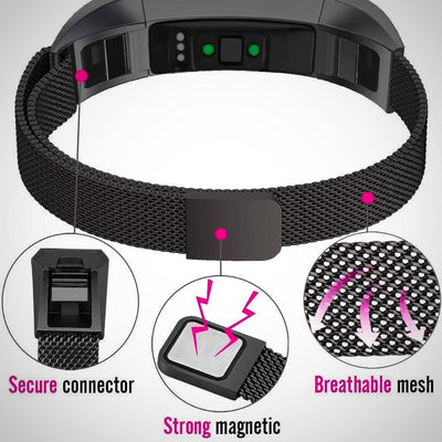 Fitbit Alta / Alta HR Magnetic Milanese Stainless Steel Watch Band Strap - The Happy Tourist LTD