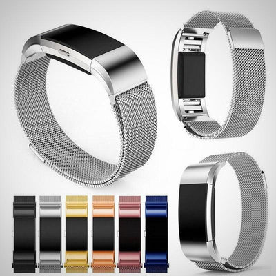 Fitbit Charge 2 Band Strap Magnetic Milanese Stainless Steel - The Happy Tourist LTD