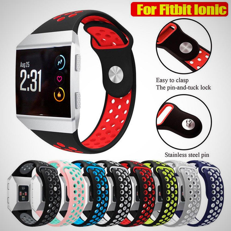 Replacement Soft Silicone Sports Watch Band Strap Bracelet For Fitbit Ionic - The Happy Tourist LTD