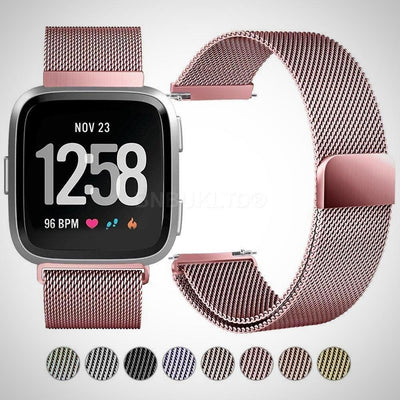 Fitbit Versa Milanese loop Stainless Steel Watch Strap Band - The Happy Tourist LTD