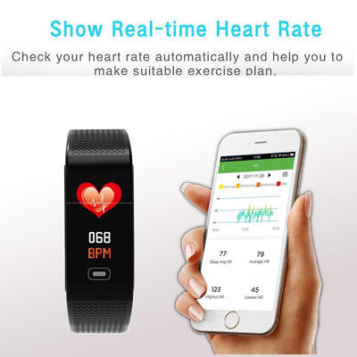 Fitness Trackers with 7 Sport Mode Pedometer Heart Rate Blood Pressure Monitor - The Happy Tourist LTD