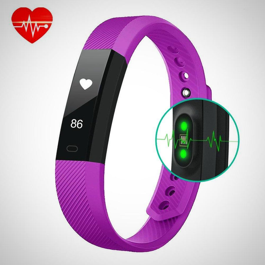 Fitness Tracker Heart Rate Monitor Smart Bracelet Watch - The Happy Tourist LTD