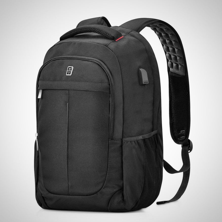 Anti-Theft 15.6-Inch Casual Rucksack with USB Charging Port - The Happy Tourist LTD