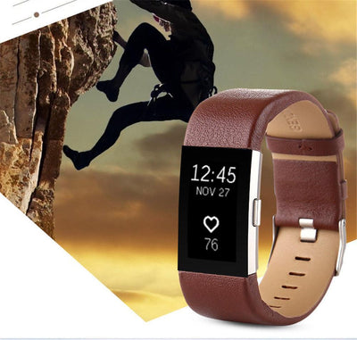 Genuine Leather Watch Band Strap For Fitbit Charge 2 - The Happy Tourist LTD