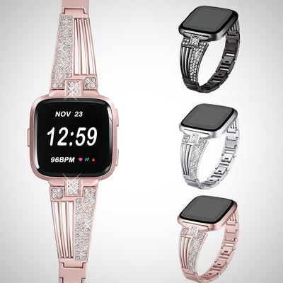 Luxury Stainless Steel Strap For Fitbit Versa - The Happy Tourist LTD