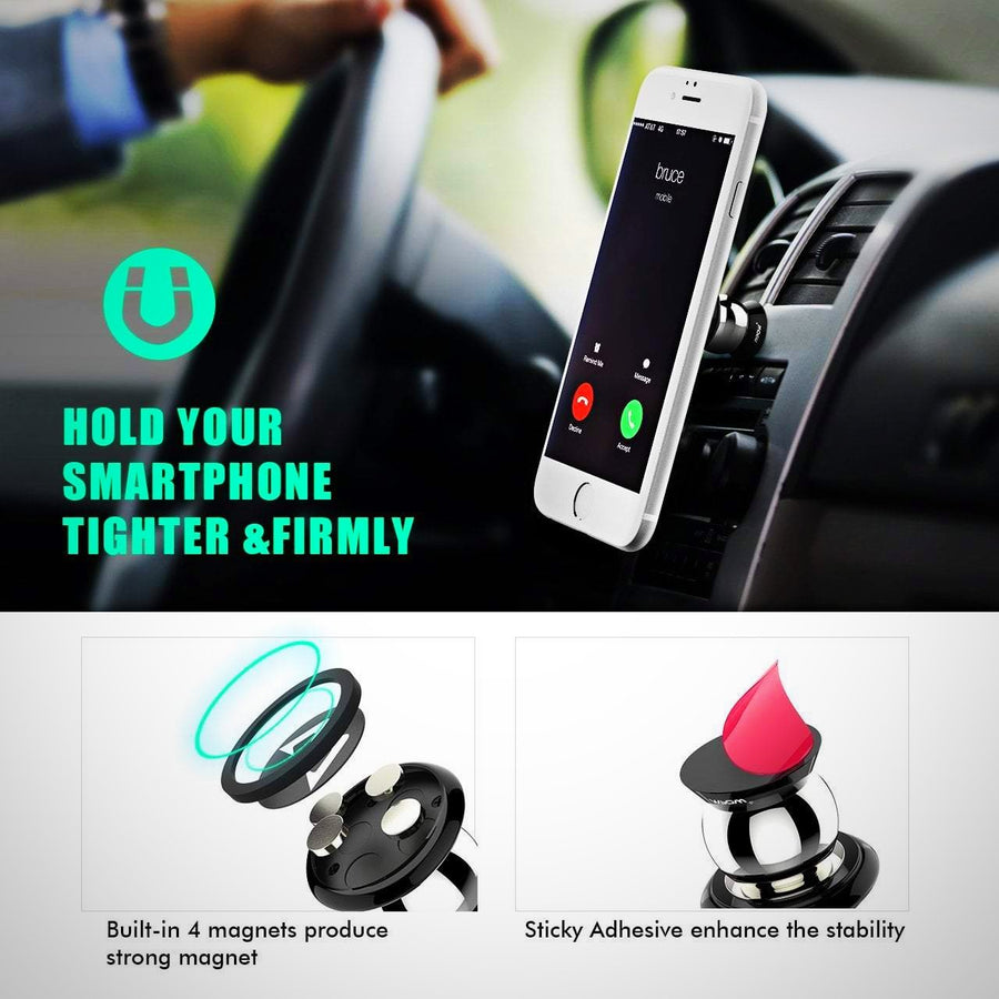 Magnetic Phone Holder, Mpow 360° Rotatable Car Phone Mount