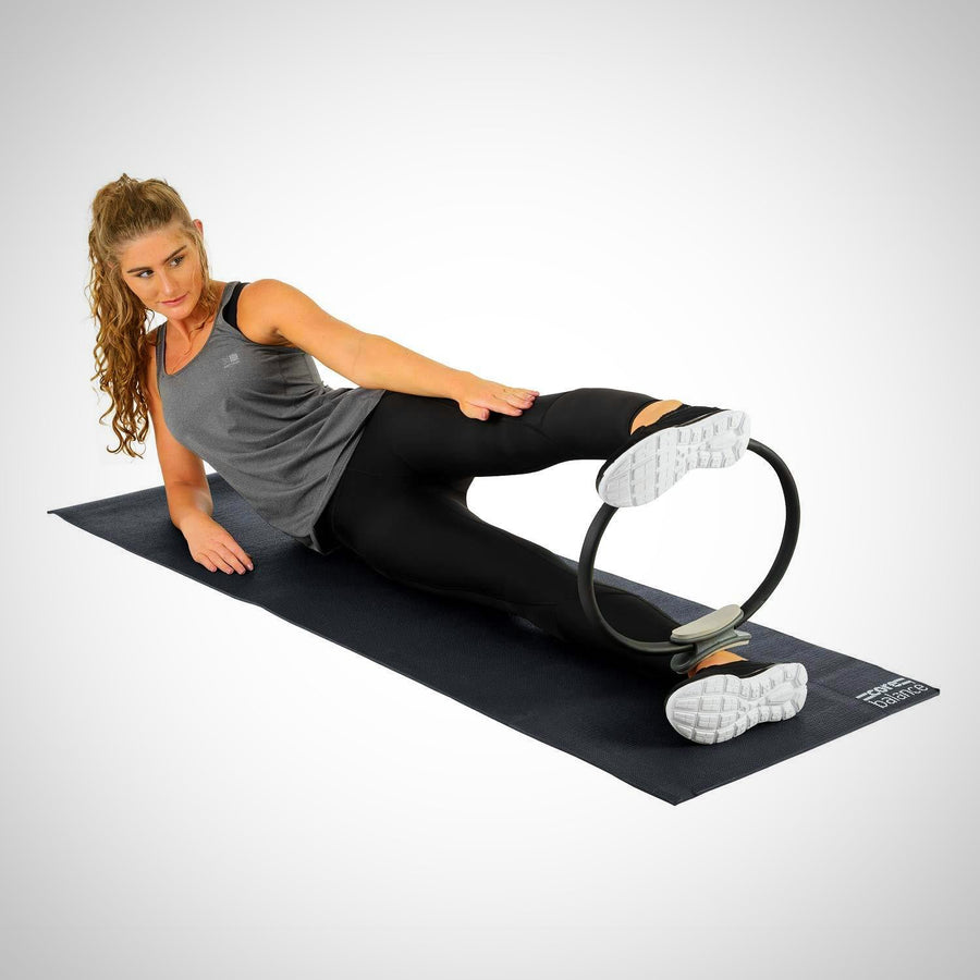 Non-Slip PVC Foam Exercise Mat Gym Yoga Pilates With Strap 0.6cm