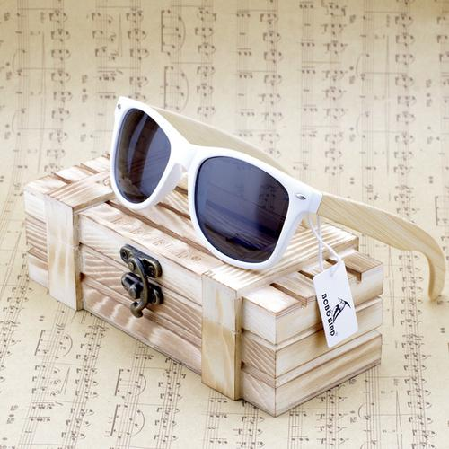 Rectangular Genuine Real Bamboo Wood Polarized - The Happy Tourist LTD