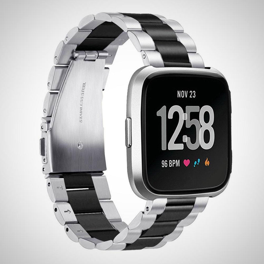 Replacement Stainless Steel Strap Band For Fitbit Versa