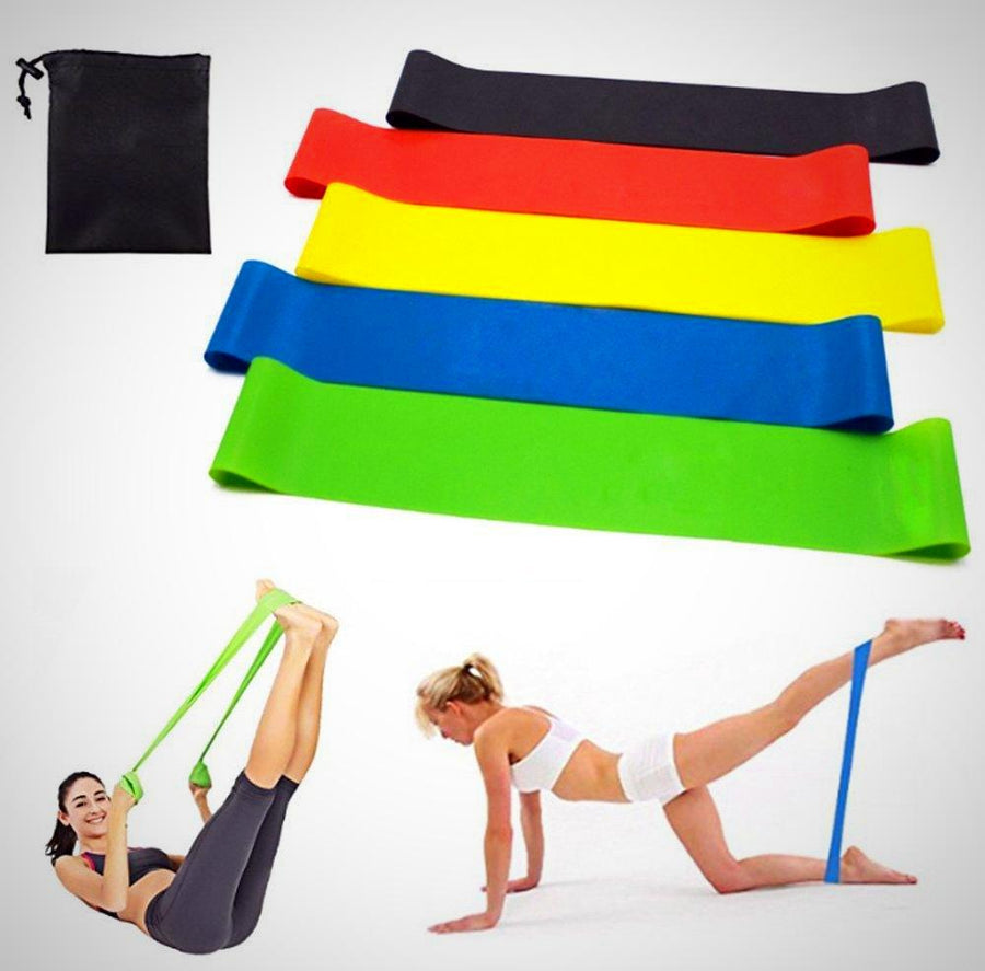 Resistance Loop Bands, Exercise Bands with Carry Bag - The Happy Tourist LTD