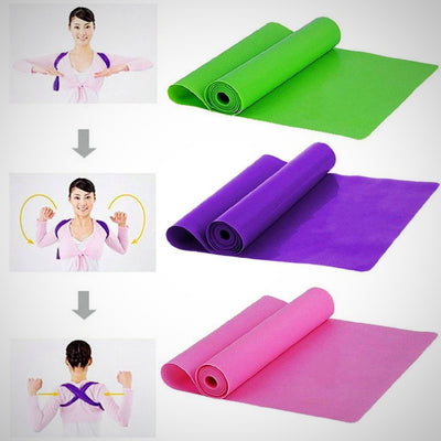Pilates Yoga Workout Elastic Band Home Fitness Exercise Bands Suitable for Women and Men