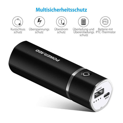 Slim2 Auto Detect Portable Charger Power Bank 5000mAh - The Happy Tourist LTD