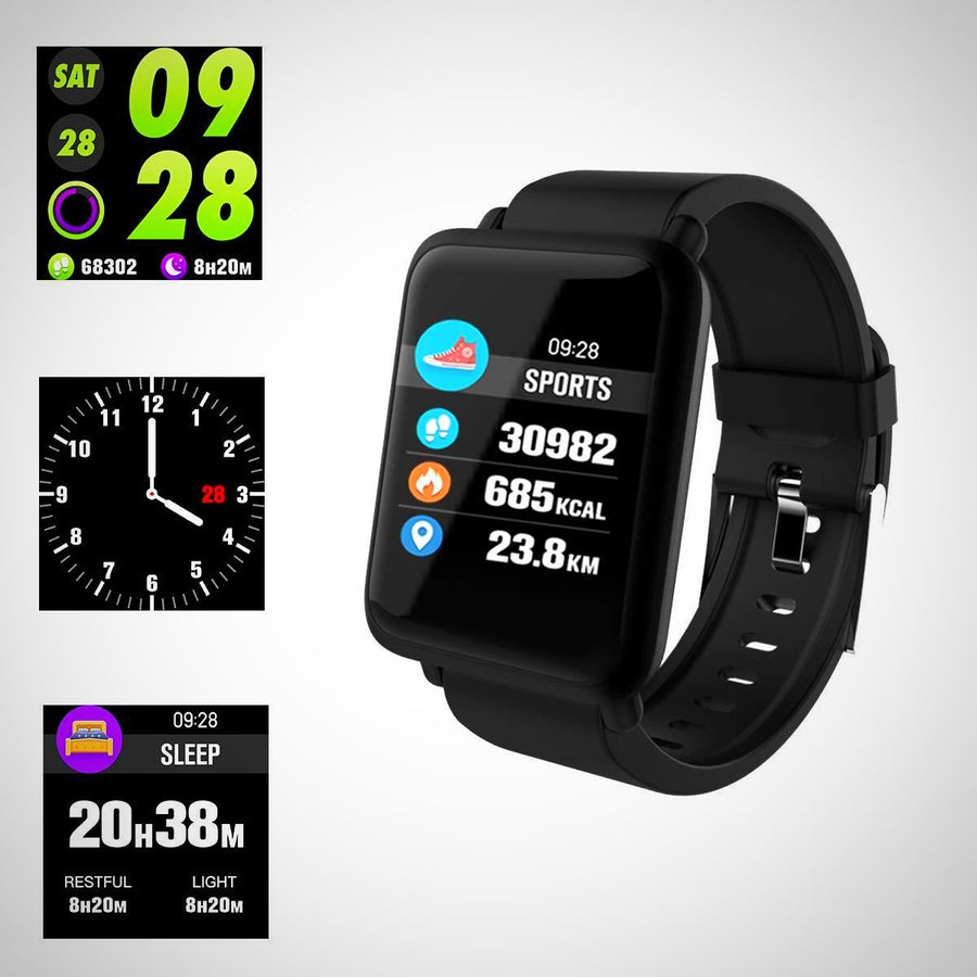 Smart Watch, Fitness Tracker Waterproof IP67 Heart Rate Monitor
