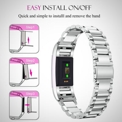 Stainless Steel Replacement Watch Band Strap For Fitbit Charge 3 - The Happy Tourist LTD
