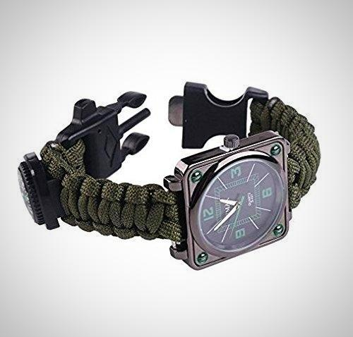 Outdoors Survival Multifunction Bracelet Watch, Survival Kit