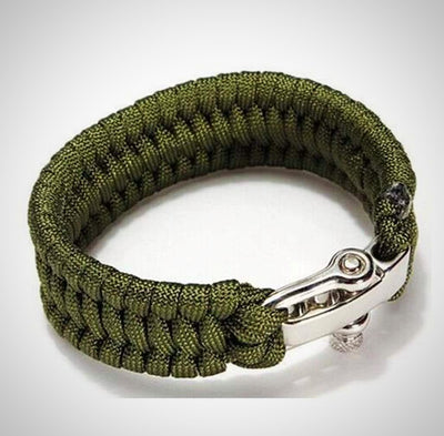 Multifunctional Paracord Survival Bracelet with Adjustable Stainless Steel Buckle Outdoor