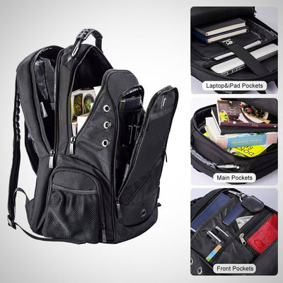 Travel Laptop Backpack, Large Water Resistant Computer Rucksack with USB Charging - The Happy Tourist LTD