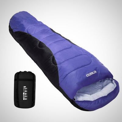 Warm Mummy Sleeping Bag for Adults Lightweight and Compact Breathable Hollow Cotton for Backpacki