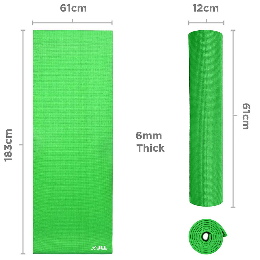 6mm Thick Exercise Fitness Workout, Mat Physio Pilates Camping Gym