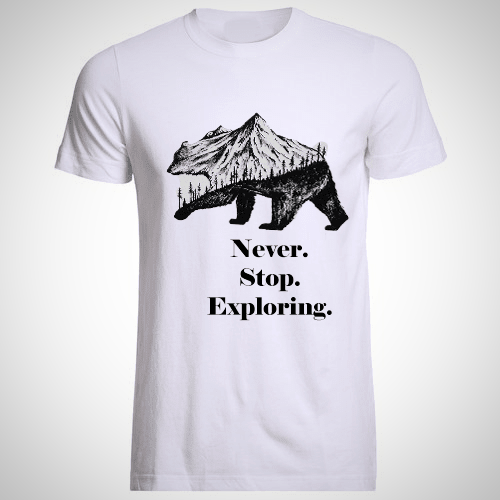Adventures Custom T-Shirt for traveling - The Happy Tourist LTD